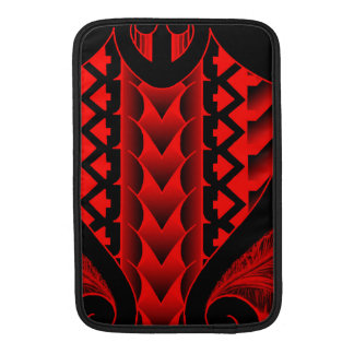 colored tribal maori tatau design with feathers MacBook sleeves