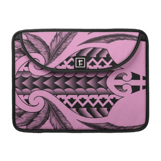 colored tribal maori tatau design with feathers MacBook pro sleeves