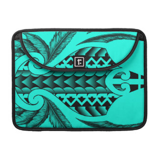 colored tribal maori tatau design with feathers sleeves for MacBooks
