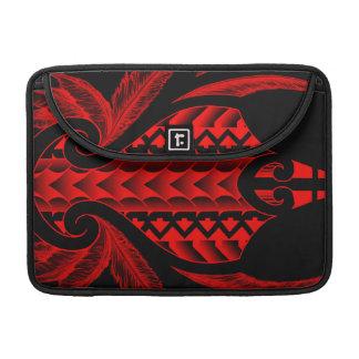 colored tribal maori tatau design with feathers sleeve for MacBooks