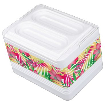 adamfahey Colored tropical flowers cooler