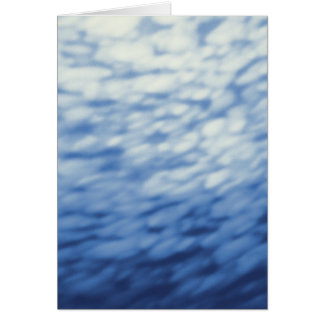 Colored Under Water Clouds Abstract blue Card