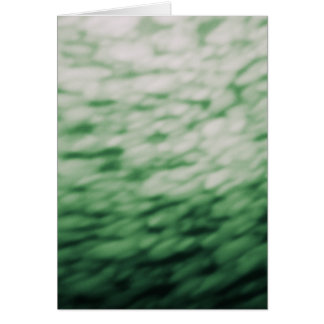 Colored Under Water Clouds Abstract green Card