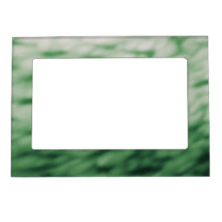 Colored Under Water Clouds Abstract green Magnetic Photo Frame