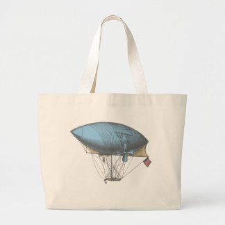 Colored Vintage Airship Canvas Bags