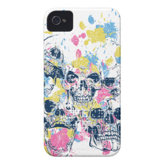 colored vintage skulls iPhone 4 Case-Mate case