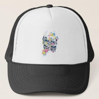colored vintage skulls trucker hat