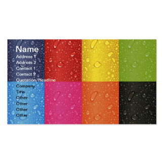 Colored Water Droplets Business Card