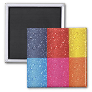Colored Water Droplets Magnet