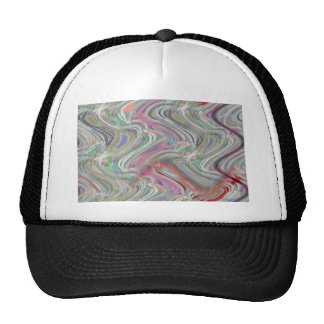 colored waves trucker hat