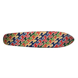 Colored Waves Skateboard