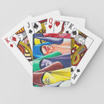 Colored Women Playing Cards