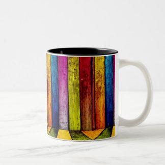 colored wood paneling Two-Tone coffee mug