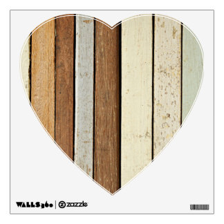 Colored Wooden Planks Wall Decal
