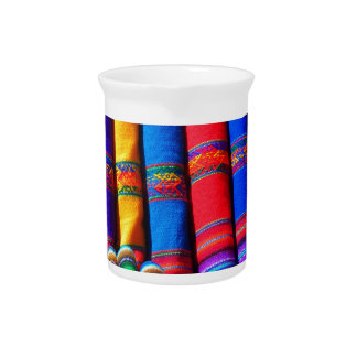 Colored Woven Cloth Beverage Pitchers