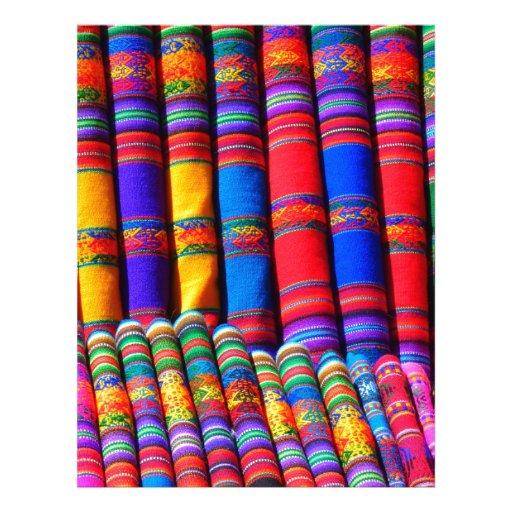 Colored Woven Cloth Letterhead Template