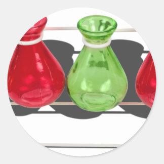 ColoredBeakersStand103013.png Classic Round Sticker