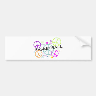 coloredpeacesignsBASKETBALL-10x10. Bumper Sticker