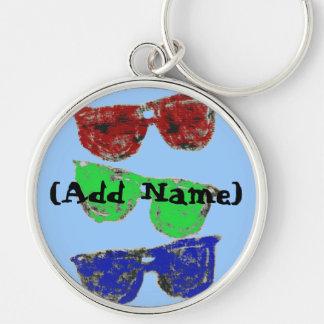coloredsunglasses, (Add Name) Key Chains