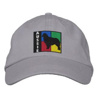 Coloree al pastor del australiano de los cuadrados gorra de beisbol bordada