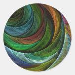 Coloree al pegatina redondo del arte abstracto de