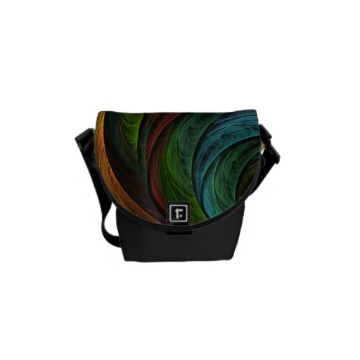 Coloree bolso del arte abstracto de la gloria el m bolsas messenger