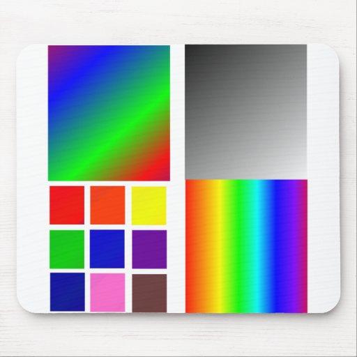 Coloree diversos cuadrados y tales de las muestras alfombrillas de ratón