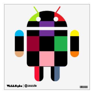 Coloree el androide cuadrado vinilo
