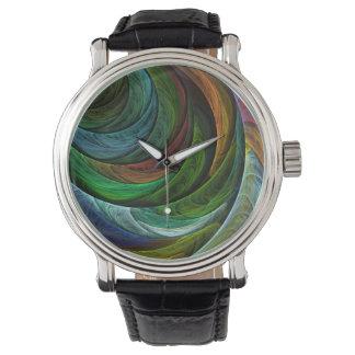 Coloree el arte abstracto de la gloria relojes de mano