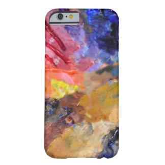 Coloree el arte abstracto de la paleta del pintor funda de iPhone 6 barely there