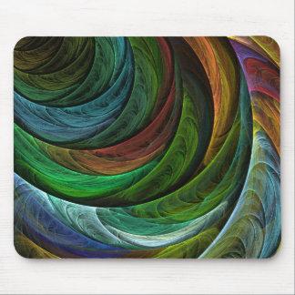 Coloree el arte abstracto Mousepad de la gloria