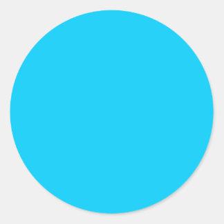 Coloree el azul de cielo adaptante visual de las h pegatinas redondas
