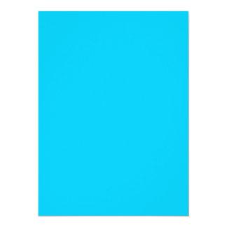 Coloree el azul de cielo adaptante visual de las invitación 13,9 x 19,0 cm