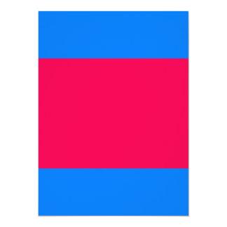 Coloree el azul y el rosa de cielo adaptante invitación 13,9 x 19,0 cm