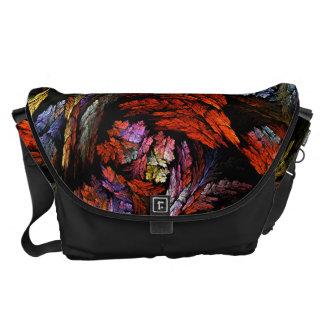 Coloree el bolso grande del arte abstracto de la bolsa de mensajeria