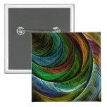 Coloree el botón del arte abstracto de la gloria ( pins
