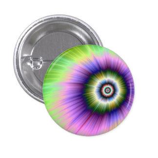 Coloree el botón teñido anudado de la explosión pins