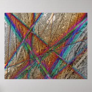 Coloree el extracto del arco iris poster