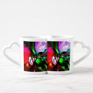 Coloree el extracto del carnaval taza amorosa