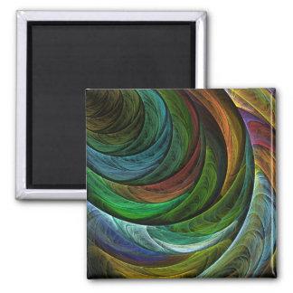 Coloree el imán del cuadrado del arte abstracto de