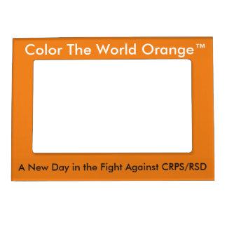 Coloree el marco magnético de Orange™ del mundo Marcos Magnéticos