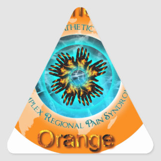 Coloree el naranja del mundo - hielo dual pegatina triangular