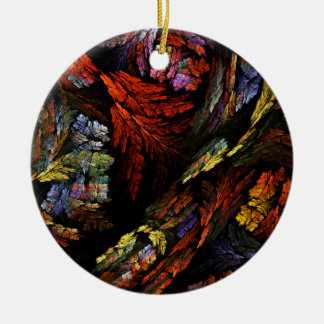 Coloree el ornamento del círculo del arte adorno navideño redondo de cerámica