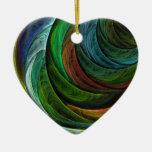 Coloree el ornamento del corazón del arte ornamento de navidad