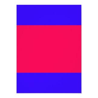 """Coloree el rosa azul vivo adaptante de los invitación 5.5"""" x 7.5"""""""