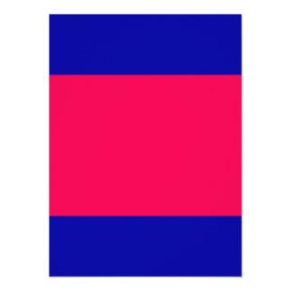 """Coloree el rosa vivo adaptante de la marina de invitación 5.5"""" x 7.5"""""""