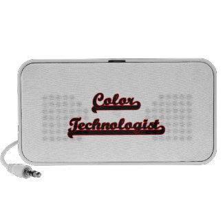 Coloree el sistema de trabajo clásico del laptop altavoces