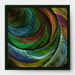 Coloree el sobre del cuadrado del arte abstracto d
