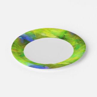 coloree el verde inconsútil abstracto del fondo, platos de papel