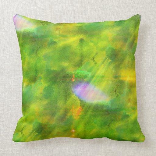 coloree el verde inconsútil del fondo, amarillo cojin